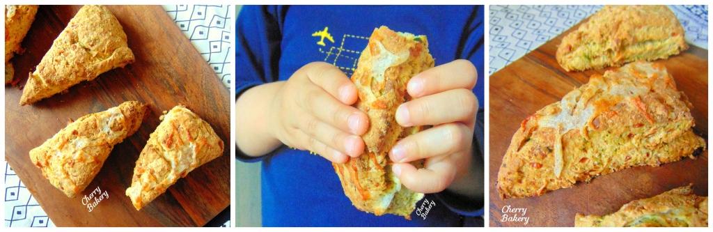 Скоунс със спанак - лесна рецепта за домашни содено-маслени хлебчета за закуска от Cherry Bakery.