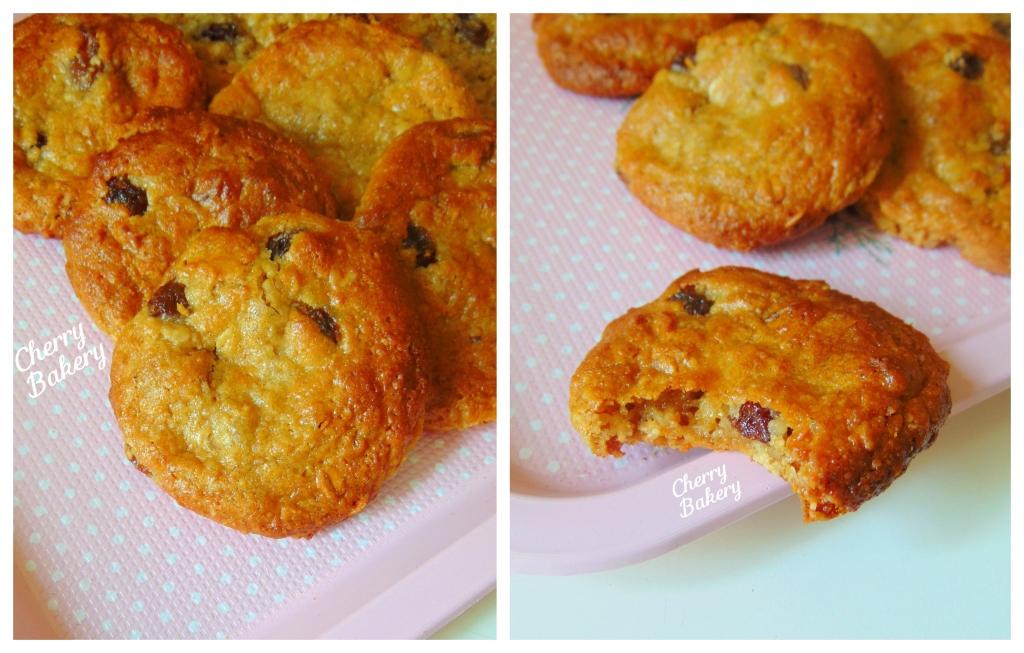 Бисквитки със сусамов тахан, овесени ядки и стафиди - без бяло брашно, без захар, без яйца. Рецепти за деца от Cherry Bakery.