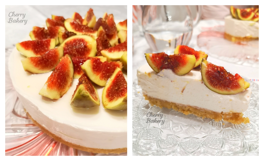 Чийзкейк със смокини - лесна и бърза рецепта за десерт без печене от Cherry Bakery